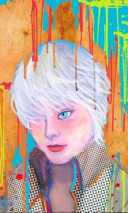 Silver Blue - illustration, painting - amakanit | ello