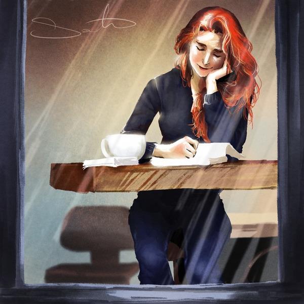 Coffee break - reading, books - samanthadoodles | ello