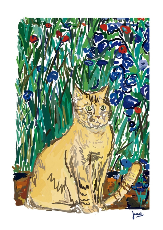 Cat nº7 - illustration, painting - juaniserrovalle | ello