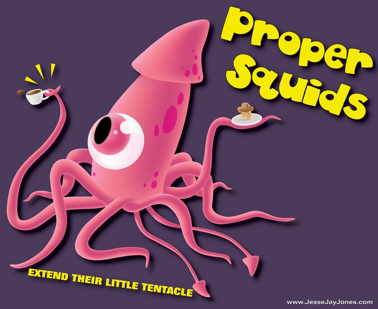 Proper Squids - illustration, design - jessejayjones | ello