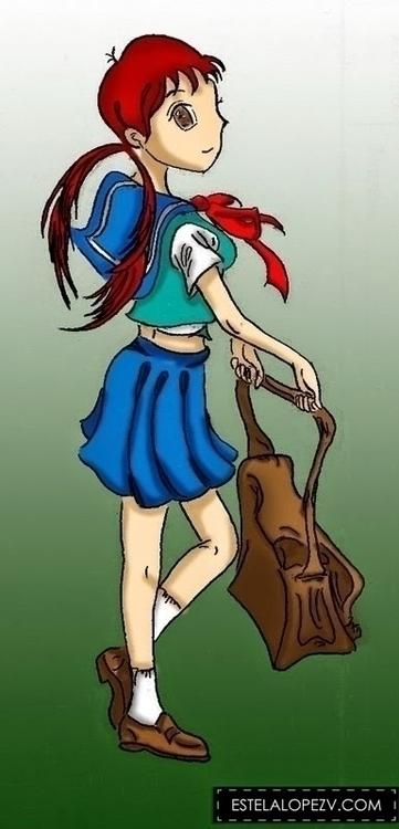 Teen - manga, cute, cutegirl, color - stelalo | ello