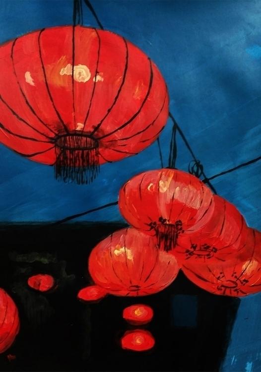Chinese lanterns - chinese, lantern - clarisse-1174 | ello