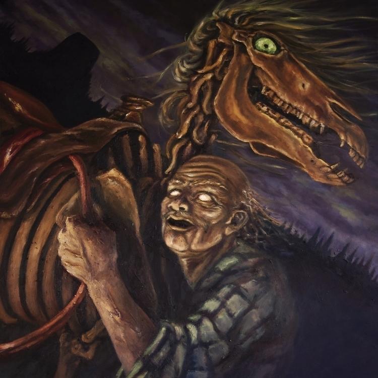 Wyom, Oil canvas 2013 - horse, skeleton - emilyadleblute | ello