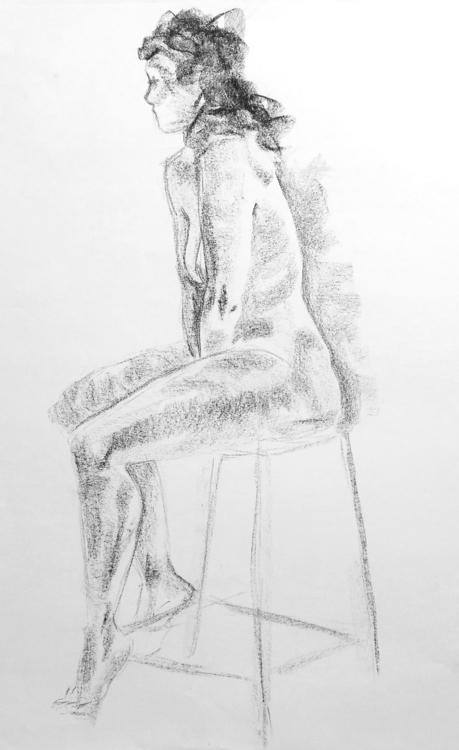 Female model (Lila), black chal - clarisse-1174 | ello