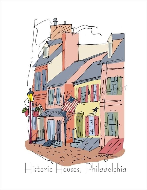 Historic Houses, Philadelphia  - macgregorart | ello