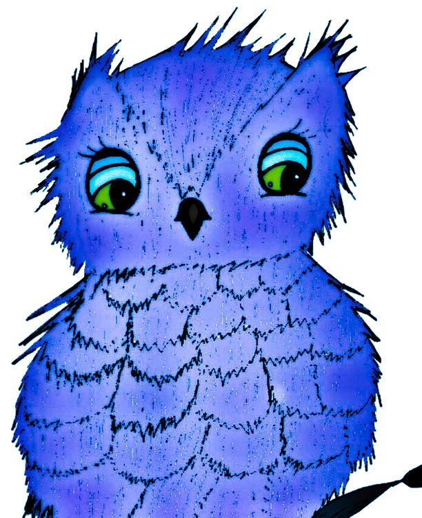 Blue Diamond Hootsie - illustration - jennziegirl | ello