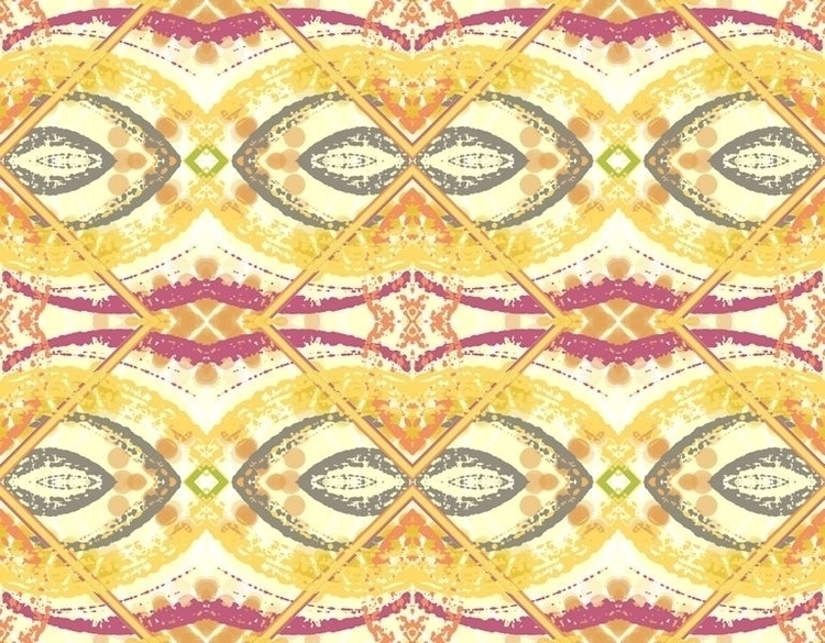 Colorful Pattern Textile Design - deannclaudette | ello