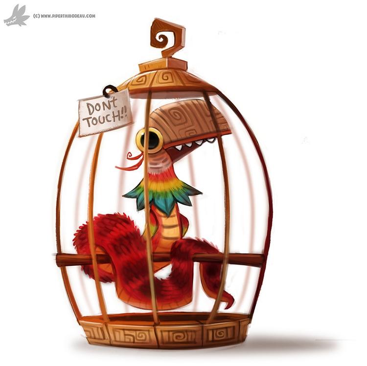 Daily Painting Pet Quetzalcoatl - piperthibodeau | ello