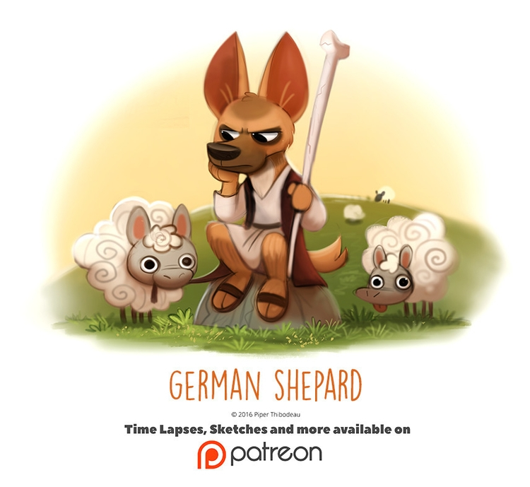 Day 1418. German Shepard - piperthibodeau | ello