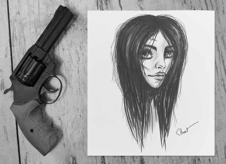 girl gun - illustration, characterdesign - lukowkina | ello