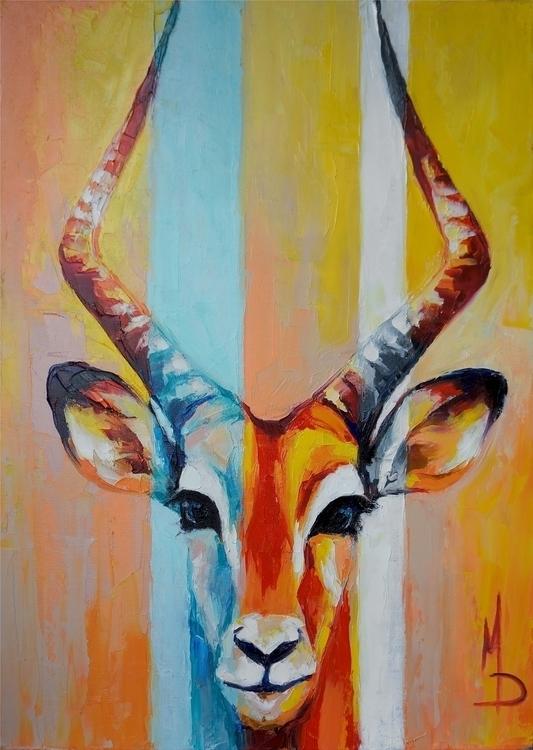 Impala 70-50 oil canvas, palett - maridein | ello