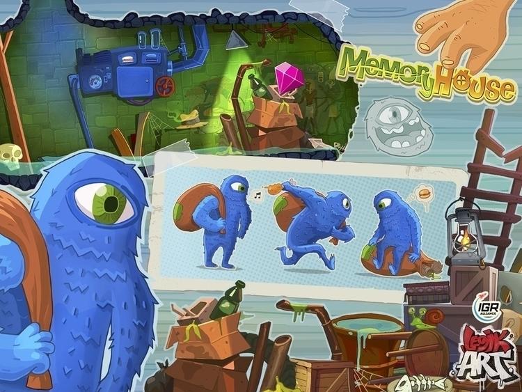 Memory House2 - gameart, conceptart - legik | ello