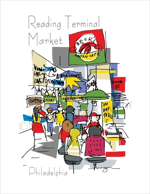 Reading Terminal Market, Philad - macgregorart | ello