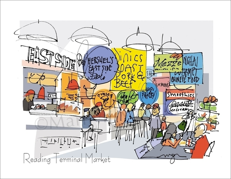 Reading Terminal Mkt East Side - macgregorart | ello