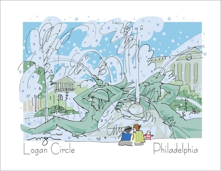 Logan Circle Fountain, Philadel - macgregorart | ello