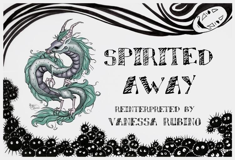 Spirited reinterpreted - illustration - vanillika | ello
