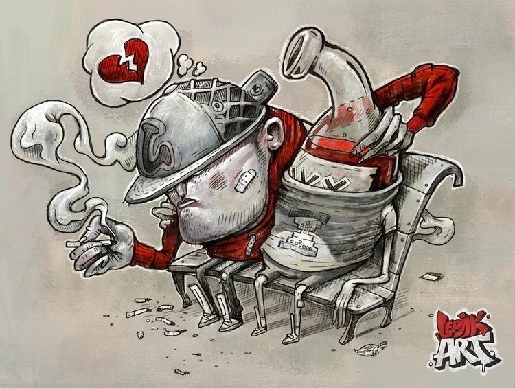 Broken Love - illustration - legik | ello
