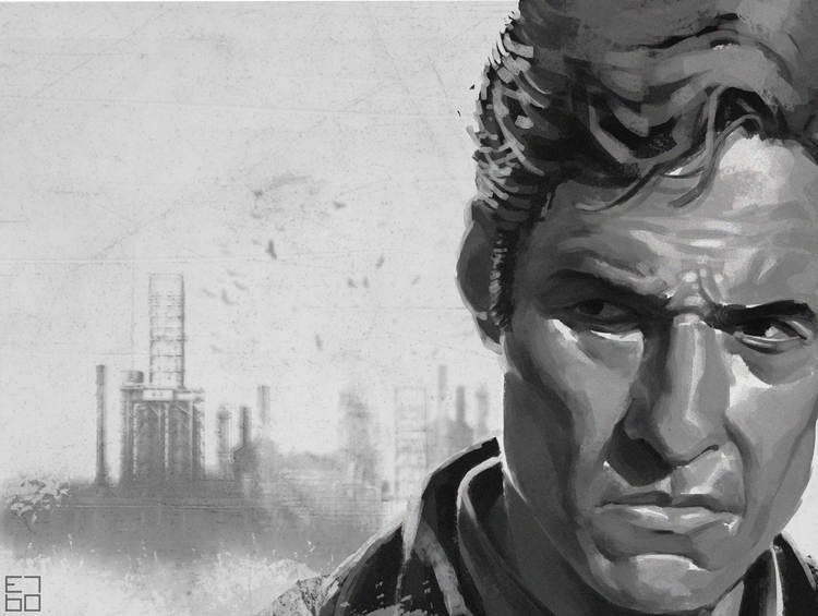 Rust true detective fan art - illustration - grositskiy | ello