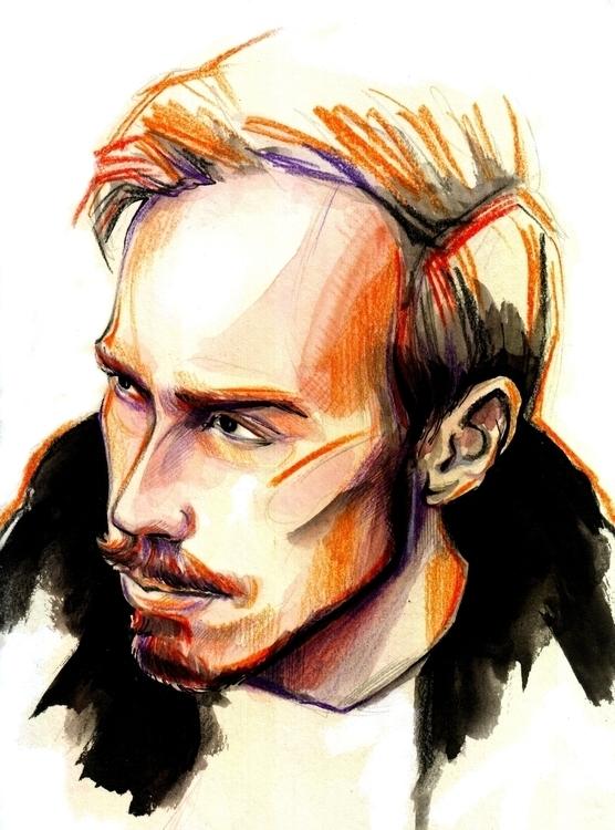 Stas Davydov, blogger - illustration - annagosteva | ello