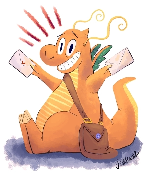 Dragonite Pokemon - pokemon, cute - jessdrawz | ello
