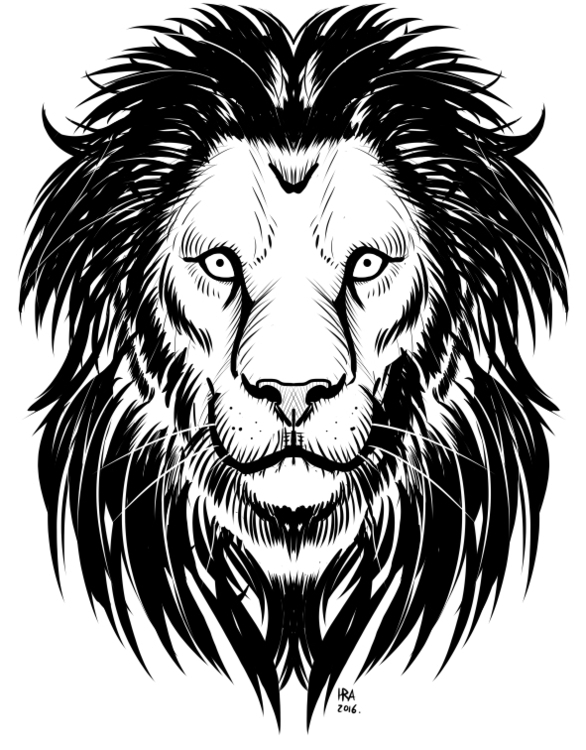 Lion Head Inks - illustration, drawing - haroldrod | ello
