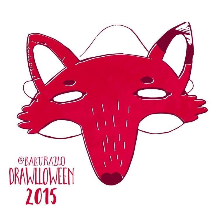 18 - Mask - mask, drawlloween, fox - clairestamper | ello