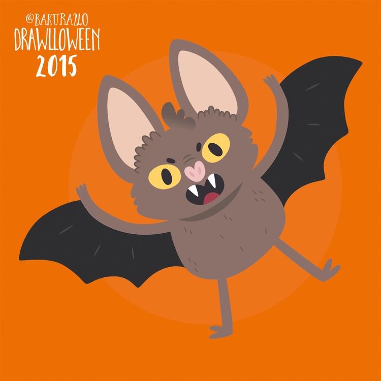 14 - Bat - bat, drawlloween, vector - clairestamper | ello