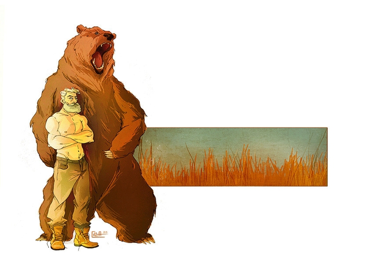 Bear - digitalart, illustration - misscilla | ello