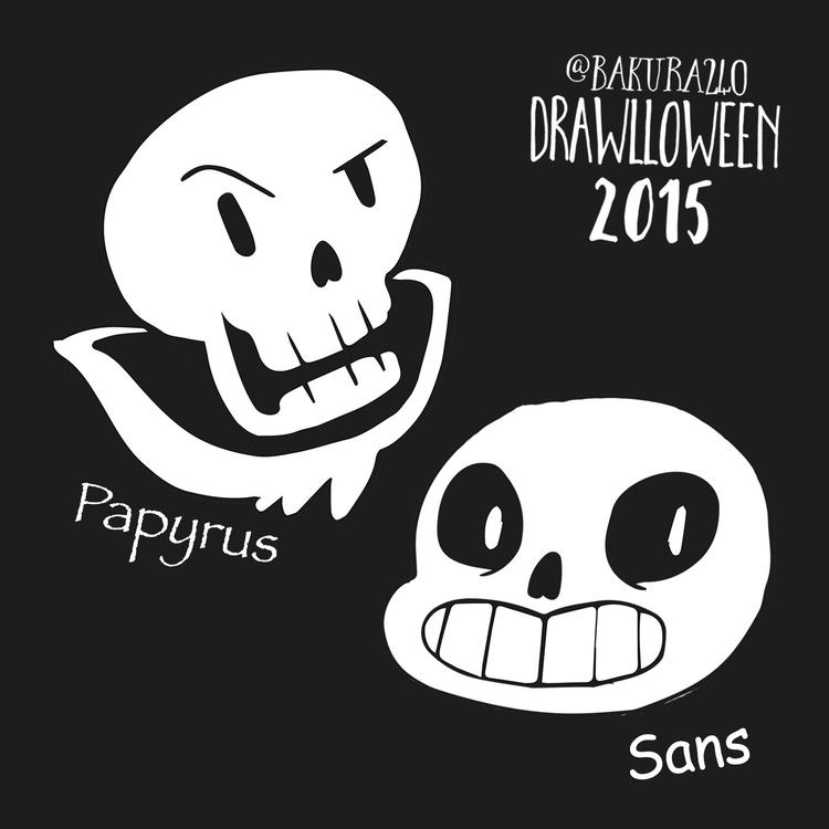 20 - Skull (Papyrus Sans Undert - clairestamper | ello