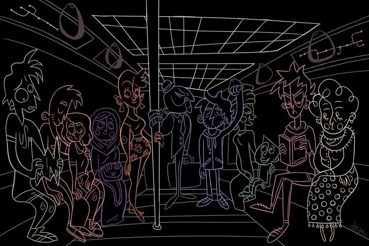 illustration based Paris subway - jessdrawz   ello