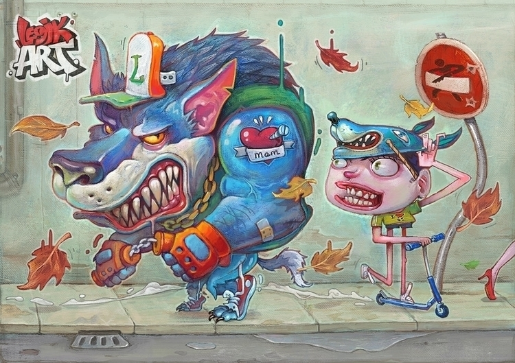 Werewolf - illustration - legik | ello