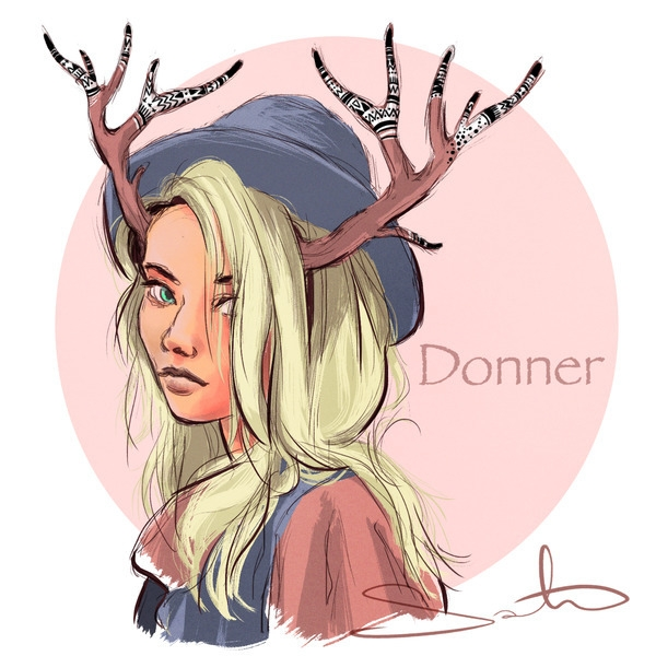 reindeer, christmas - samanthadoodles | ello