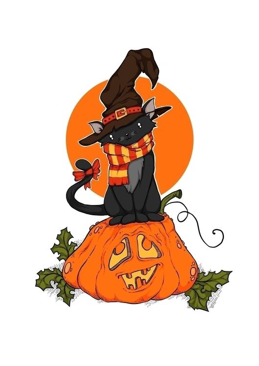 Halloween themed illustration i - zita-3948   ello