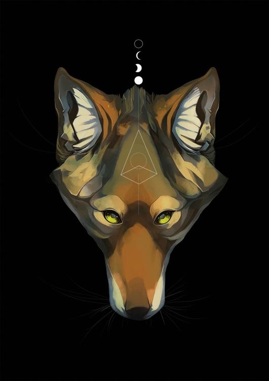 School Work - coyote, digitalart - uru-1113 | ello