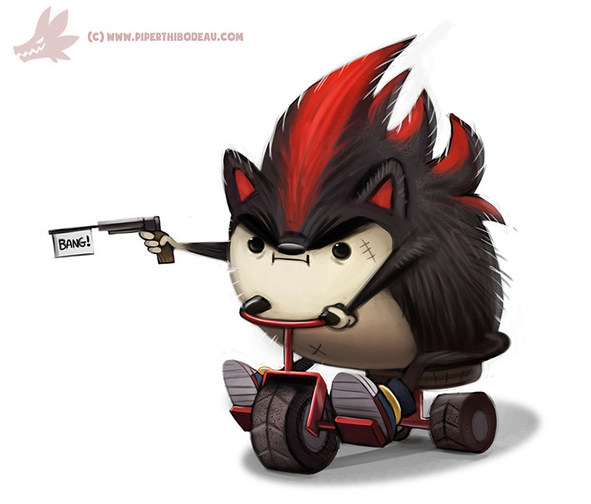 Daily Paint Edgy Hedgy (FA - 990. - piperthibodeau | ello