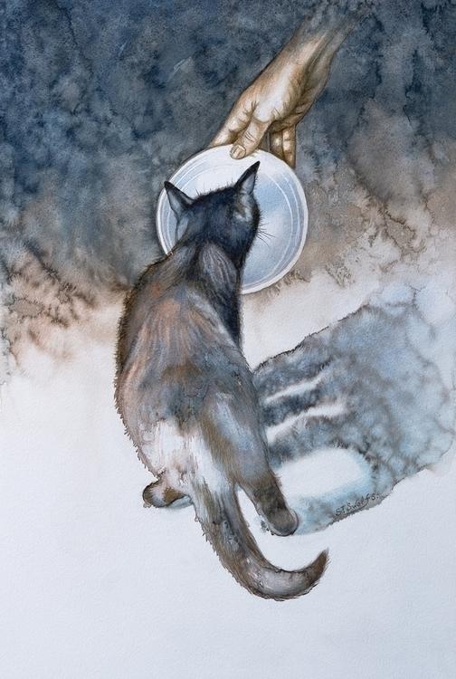 Aquarelle/ papier 34cm 54 cm - painting - swolfs | ello
