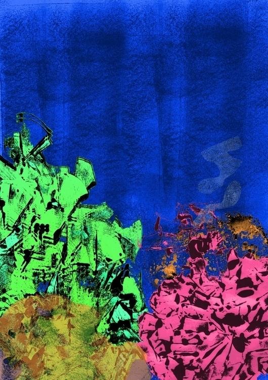 Monotype coral reef - monotype, digitalart - clarisse-1174 | ello