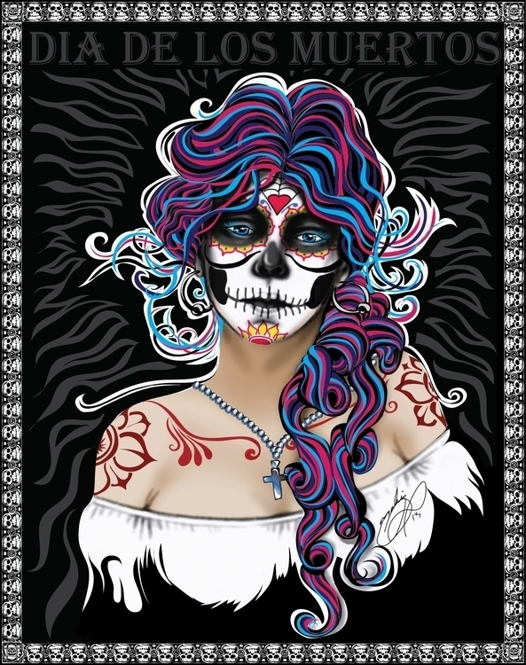 Dia De Los Muertos (Day Dead - illustration - tobinpilotte   ello