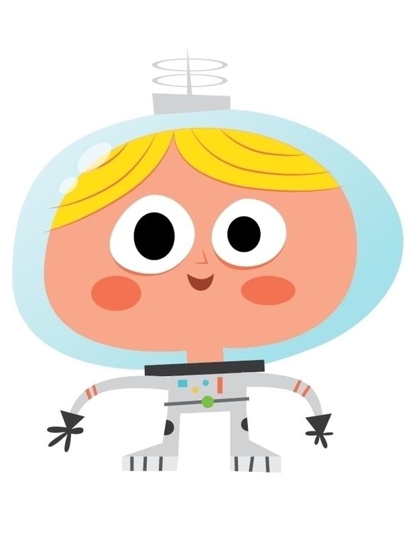 Astronaut character special exh - sweatshopillustrations | ello