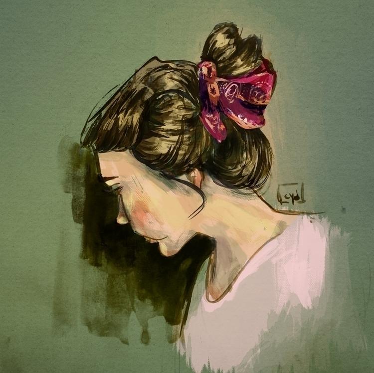 Portrait - selfportrait, profile - cyd-7746 | ello