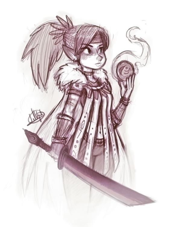 Night sketch!  - luigil-2352 | ello