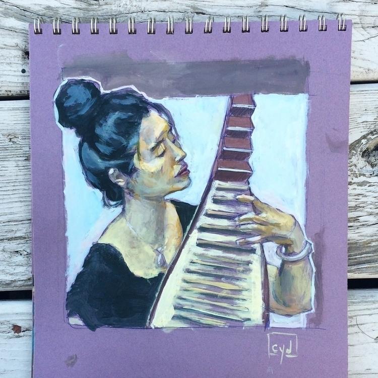 Cultural Instrument - acrylic, sketchbook - cyd-7746 | ello