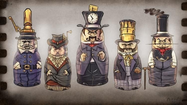 Doll designs video game Stackin - lpetty   ello