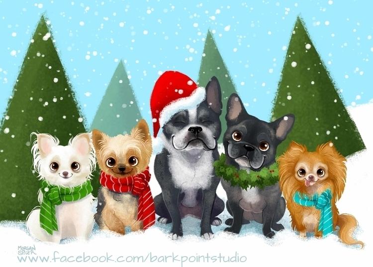 GoGo Photo Contest Holiday Card - barkpointstudio | ello