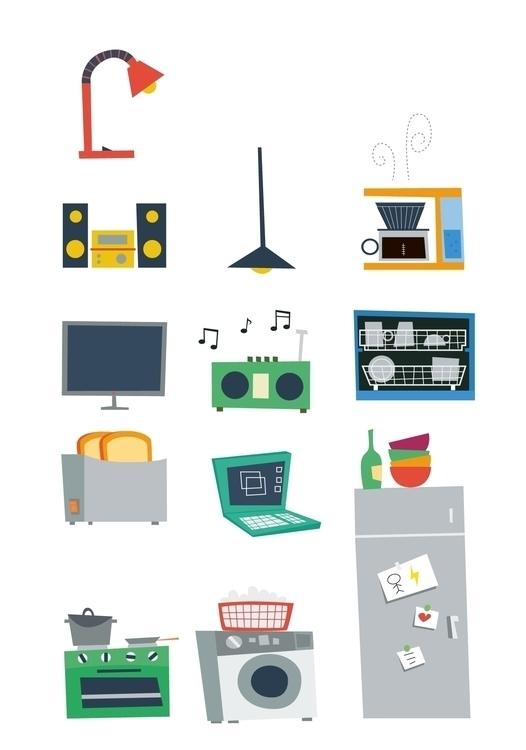 Household objects Energy Detect - sweatshopillustrations | ello