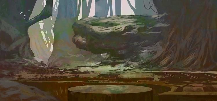 Deep_Forest - 2d, digitalart, conceptart - fenris-1300 | ello