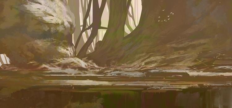 Forest - 2d, digitalart, fantasy - fenris-1300 | ello