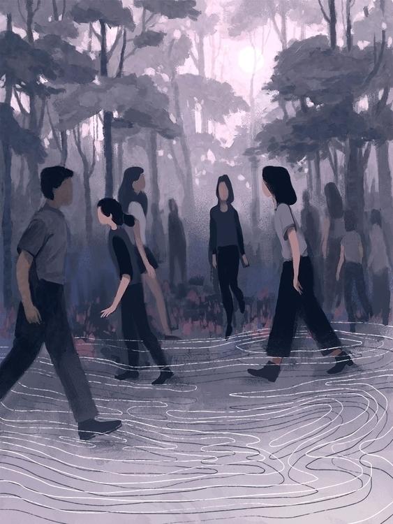 Wandering - illustration, wandering - nicolexu-8498 | ello