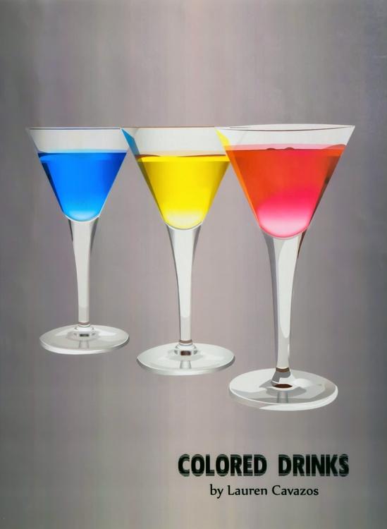 Colored Drinks - vector, vectorart - laurentesch | ello