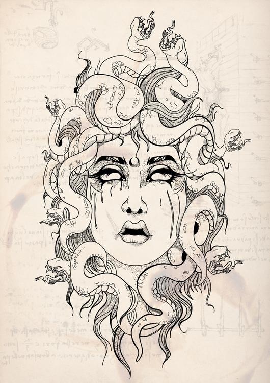 Medusa - illustration, characterdesign - lincoln_inc   ello